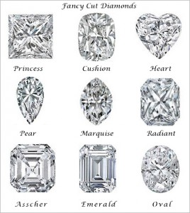 Fancy cut diamonds and their shapes